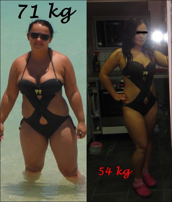 14 napos fogyás előtte és utána
